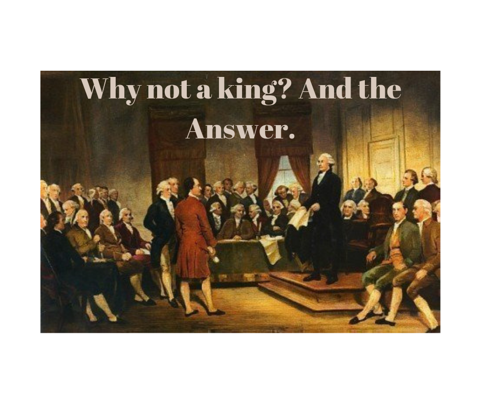 Why not a king_ And the Answer.